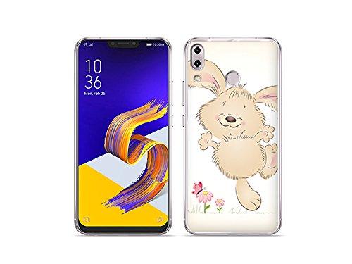 etuo ASUS Zenfone 5Z (ZS620KL) - Hülle Fantastic Case - Glückliches Kaninchen - Handyhülle Schutzhülle Etui Case Cover Tasche für Handy