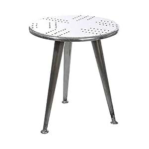 Table gigogne aviateur métal - 60x60x70 cm - gris