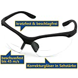 L+D Upixx Schutzbrille LETTURA Bifocal 26702SB-2 Schwarz DIN EN 166