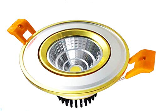 LED Retro Deckenlampe Downlight Antik Strahler Bronze Deckenlampe Antik Downlight COB Rot Kupfer Strahler 10W 开 90-100MM Weißes Licht (B) - Kupfer-bronze-drei-licht-bad
