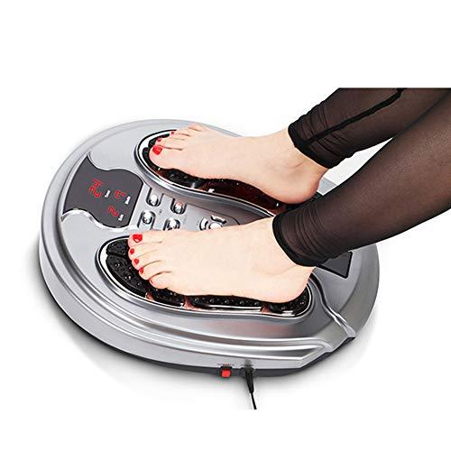 Massaggiatore di piedi a onde elettronali biologiche, macchina multifunzione per massaggio ai piedi a infrarossi con pad elettrodi per persone di mezza età