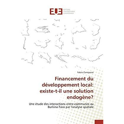 Financement du développement local: existe-t-il une solution endogène?