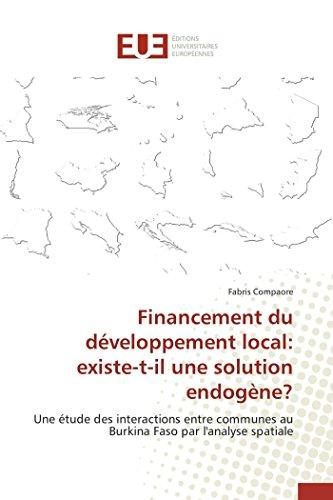 Financement du développement local: existe-t-il une solution endogène? par Compaore-F