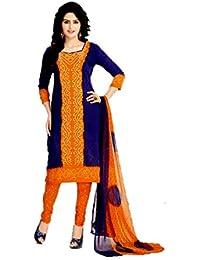 A K Designer Women's Chiffon Dress Material (Mehak1016_Free Size_White)