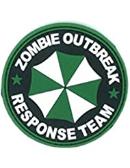 Zombie Outbreak Response Team Verde PVC Airsoft Velcro Patch