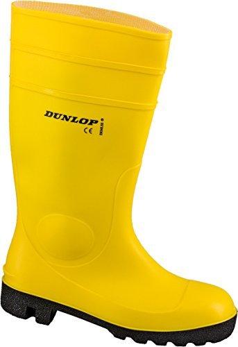 Dunlop Protomaster Full Safety Gummistiefel,Arbeitsstiefel,Regenstiefel,Gartenstiefel (39, gelb)