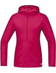 GORE RUNNING WEAR Damen Warmes Langarm Kapuzen-Laufshirt, GORE Selected Fabrics, AIR LADY Hooded Shirt long, SHLAIR