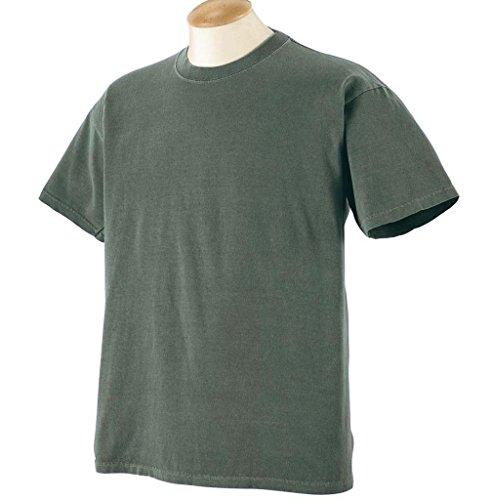 Gelber Fu§ball auf American Apparel Fine Jersey Shirt Mallard