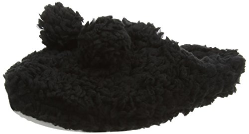 Spot On Pom Pom Fluffy Mule,  Nero Nero L