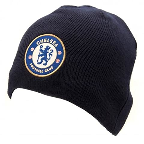 Chelsea FC Beanie Hat (Adult - Navy)