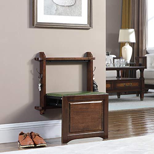 HDHXDS Cambie el Banco del Zapato Sillas Plegables montadas en la Pared Sillón Colgante Invisible de la Pared Taburete Colgante encubierto de la Pared Entrada Entrada del hogar