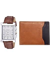 Laurels White Men's Wallet & Watch- Combo Pack (CP-IMP-201-MRTN-0602)