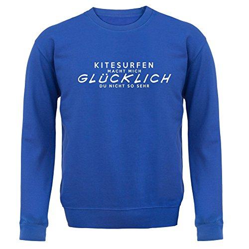 Kitesurfen macht mich glücklich - Unisex Pullover/Sweatshirt - 8 Farben Royalblau