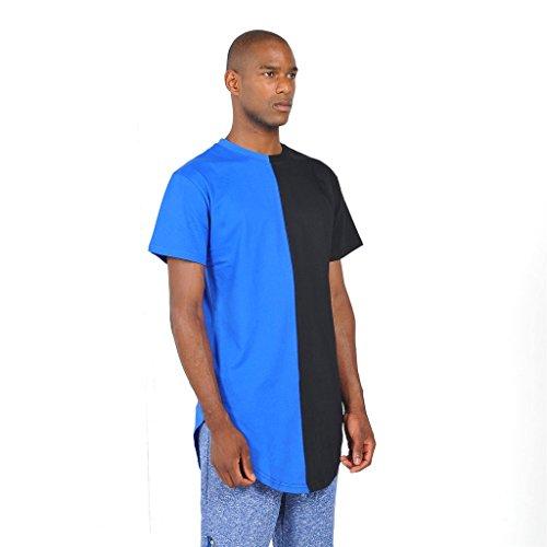 Pizoff Unisex Hip Hop Urban Basic Langes T Shirts mit Tarnmuster Y1294-Blue