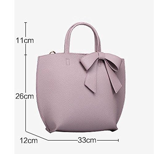 Signora Della Moda Arco Top-maniglia Di Spalla Della Borsa Di Crossbody Del Tote Per Le Donne Multicolor Pink