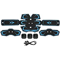 3pcs/set EMS Abdomen Muscle Trainer Stimulator Vibration Fitness MassagerPortable Muscle Trainer, Abdominal Toning Belt Ultimate Abs Stimulator para Hombres Mujeres