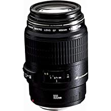 Canon EF 100mm f/2.8 Macro USM - Objetivo para Canon (Distancia Focal Fija 100mm, Apertura f/2.8-32, diámetro: 58mm) Negro (Reacondicionado)