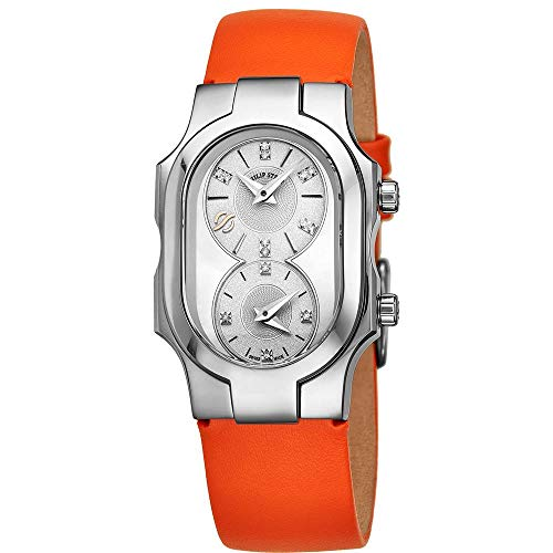 Philip Stein Women's Signature Diamond Orange Swiss Quartz Watch 100DSMOPKO