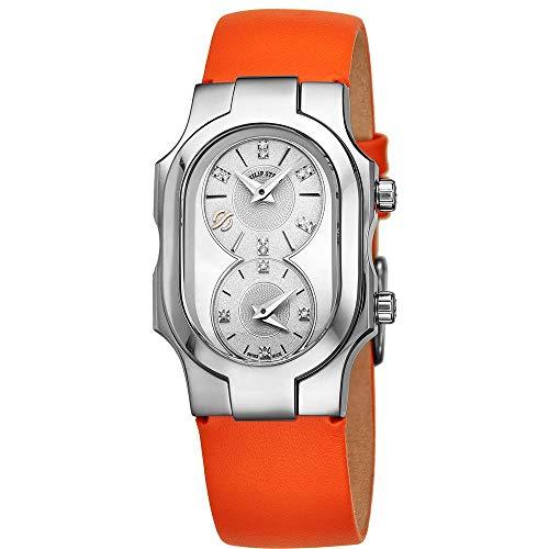 Philip Stein Women's Calfskin Band Steel Case Swiss Quartz Watch 100DSMOPKO