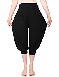 MEISHINE® Verano Mujer 7 10 Holgados Pantalones Deportivos Pantalones de  Yoga Algodón Modal Harem Pantalón Polainas para Danza 6860c7395dcd