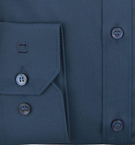 Olymp Herren Hemd No. 6 Super Slim Fit Langarm Marine