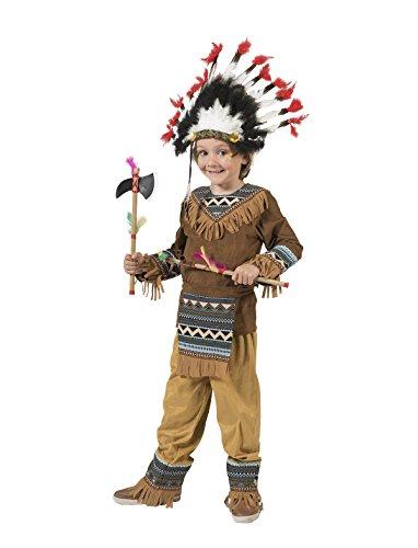Pierro´s Kostüm Indianer Cherokee Kind Jungenkostüm Größe (Häuptling Indianer Kostüm Kind)