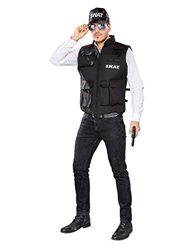Herren Kostüm Zubehör SWAT Weste Polizei Karneval Fasching (Swat Zubehör Kostüme)
