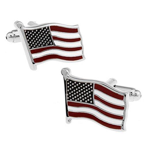 RXBC2011 American Flag stile camice francesi uomini dei gemelli 1 paio Set - Novità American Flag