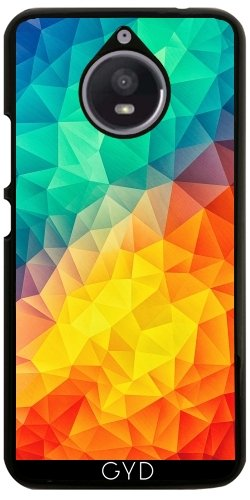 Hülle für Motorola Moto E4 Plus - Abstract Multi Color Cubizm by badbugs_art (Multi Abstract Color)