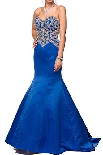 Bridal_Mall -  Vestito  - Senza maniche  - Donna Blu reale