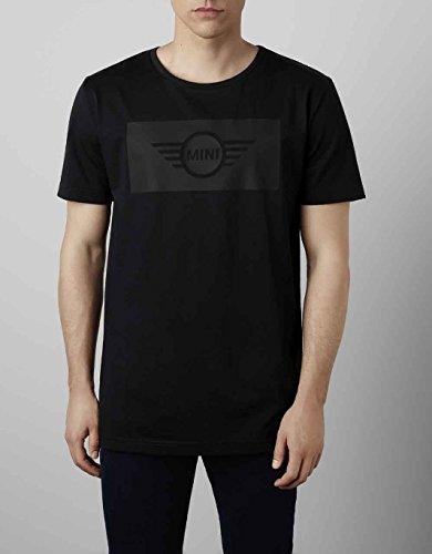 Original MINI Wing Logo Cut Out Herren Kurze Ärmel Rundhalsausschnitt T-Shirt Top schwarz S 80142445612 (Tonal Print-shirt)