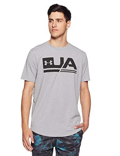 Under Armour Men's Plain Loose Fit T-Shirt (1318562-036_Steel_Medium)