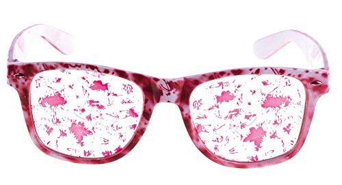 Das Kostümland Blutige Brille zum Halloween Kostüm - Zubehör Verkleidung Karneval Untoter Zombie Arzt