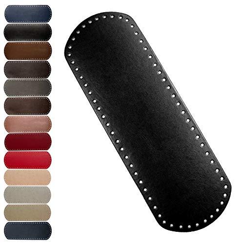 maDDma 1 Taschenboden Kunstleder zur Taschenherstellung Boden Tasche Farb-/Größenwahl, Farbe:schwarz, Größe:12x36cm