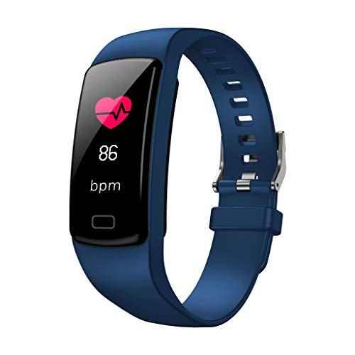 AmaSells Y9 Farbbildschirm Smart Uhr  Modisch Frauen Männer Intelligent Uhr Fitness Aktivität Herzfrequenz Tracker Blutdruck Schlafüberwachung Stoppuhr Sport Smart Armbanduhr (Blau)