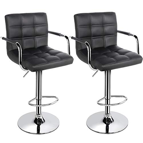 Bar Furniture Generous European High-end Leisure Lifting Bar Chairs Rotating Bar Chair With Backrest In Pain Furniture
