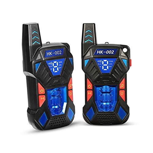 Opard Walkie Talkie für Kinder Funkgeräte 8 Kanäle mit Taschenlampe, Gürtelhaken Funkhandy Kinder Spielzeug (2er-Set) (Blau)