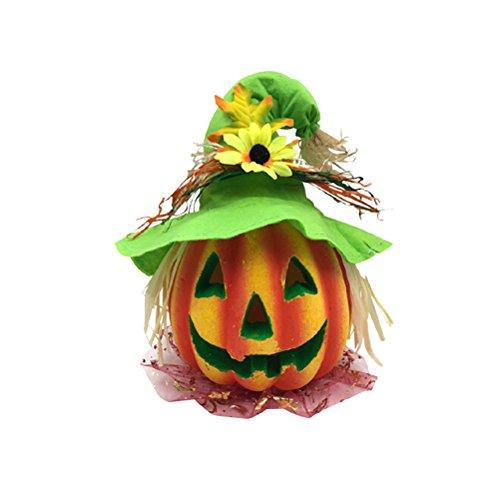 Amosfun Halloween-Kinderlaterne-Dekor-furchtsames Modell mit batteriebetriebener Figürchen-Statue für ()