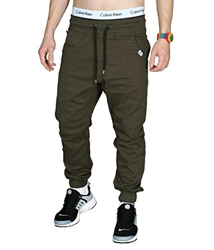 Betterstylz MasonBZ Chino-Jogger Pantalon Chino Èlégant Homme 20 couleurs (S-3XL) Mud/Sommer Edition