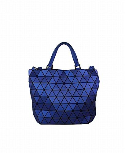 Preisvergleich Produktbild Einfache Mode Trend Dreieck Film Geometrische Paket Schulter Schräge Kreuz Handtasche , blau