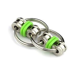 NaiCasy Flippy Kette Zappeln Spielzeug Fidgets Kette für Angst und Autismus Fahrrad Kette Zappeln Stress Reducer für Erwachsene und Kinder Zappeln Kette 1 Stück Grün