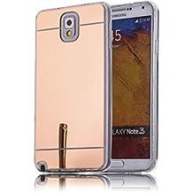 DBIT Galaxy Note 3 Funda, Gel Espejo TPU Silicona Ultra delgado Protección Funda Durable Estuche Carcasa Case para Samsung Galaxy Note 3,Rose Oro