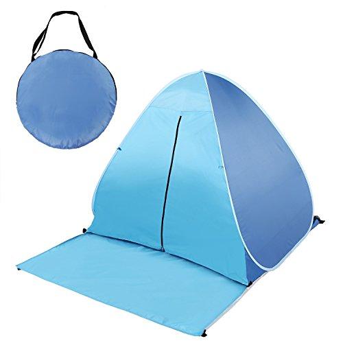 Nisels Strandmuschel Pop Up Zelt UV Schutz Wurfzelt Wasserdicht Automatik Leicht für Familie Camping Strand Wander Outdoor 2-3 Personen