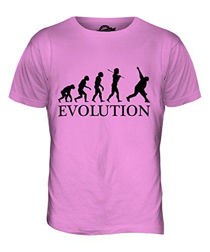 CandyMix Cricket Bowler Evolution Des Menschen Herren T Shirt Rosa