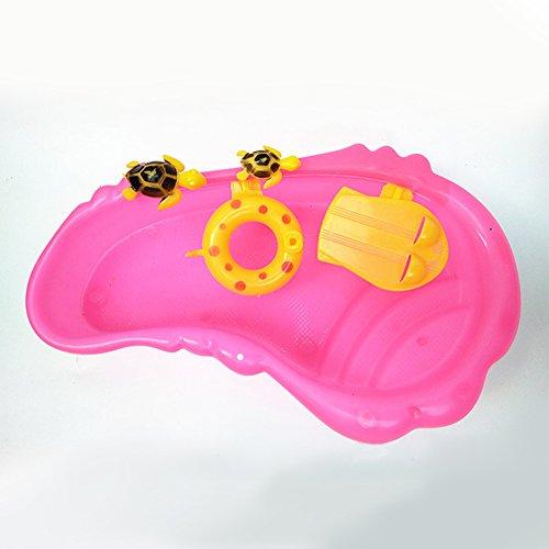 Zantec Piscina carina per tartaruga e bambola, accessori di giocattolo per bambini