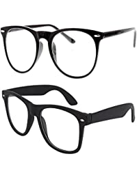 1fd5ce21bfe Y S Round Cateye Women s Men s Boy s Girl s Spectacle Frame  (Clear-Cateye-Selfy-