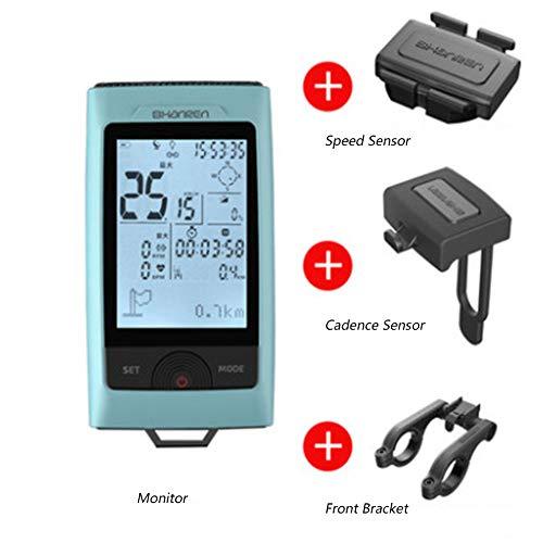 liscn Fahrradlicht Set GPS Fahrradcomputer - Kompaktes Und Leichtes Design, Beleuchtungsfunktion, Navigationsfunktion, wasserdichte Funktion, Geschwindigkeitsmessfunktion