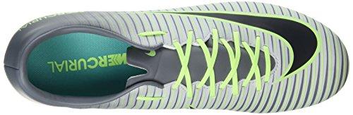 Nike Mercurial Victory Vi Fg, Entraînement de football homme Plateado (Pure Platinum / Black-Ghost Green)