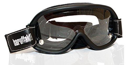 SPEED 4 i migliori Occhiali Maschera Goggles per Moto Scooter da indossare sul casco, made in Italy Baruffaldi (Nero Fotocromatico)