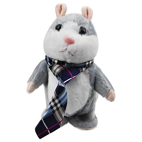 BXT Weihnachten Geburtstag Geschenk Cute Talking Sprechende Walking Mimikry Hamster flauschig weich Amimal Spielzeug Wiederholen, was Sie sagen für Spaß Lachen wunderschönes Geschenk für Kinder Freunde für Weihnachten thankinggiving Tag